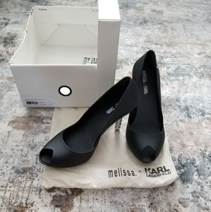 New Melissa + Karl Lagerfeld Pumps